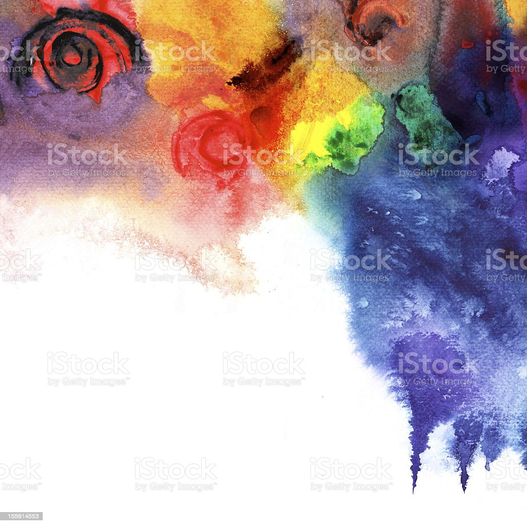 Colorful abstract watercolor picture royalty-free stock photo
