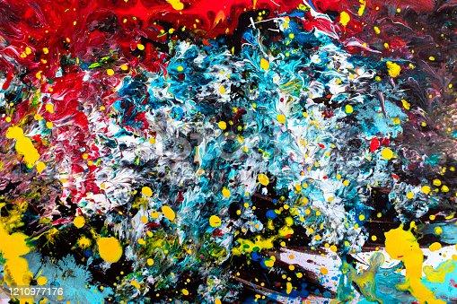 483533237 istock photo Colorful Acrylic Paint Study - Background 1210977176