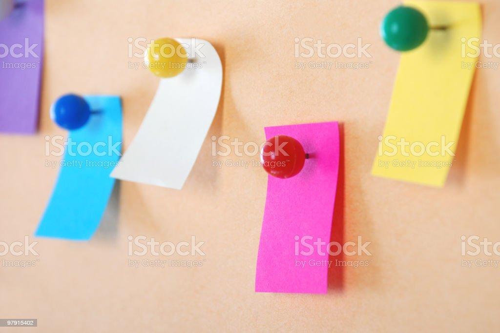 Colorful adhesive notes royalty-free stock photo