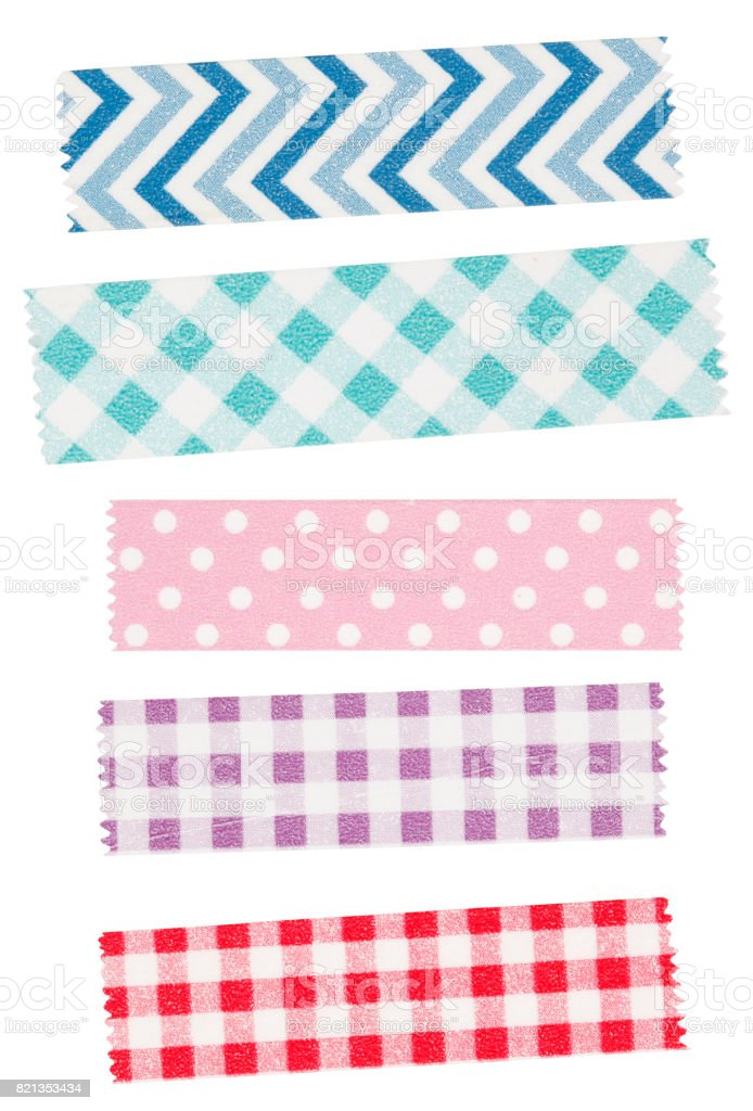 Colorful Adhesive Washi Tape stock photo