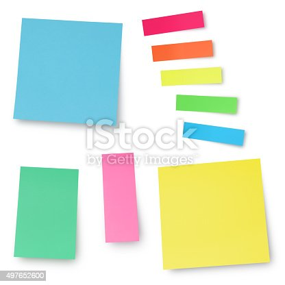istock Colorful Adhesives Notes 497652600