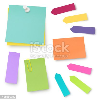 istock Colorful Adhesives Notes 498950790
