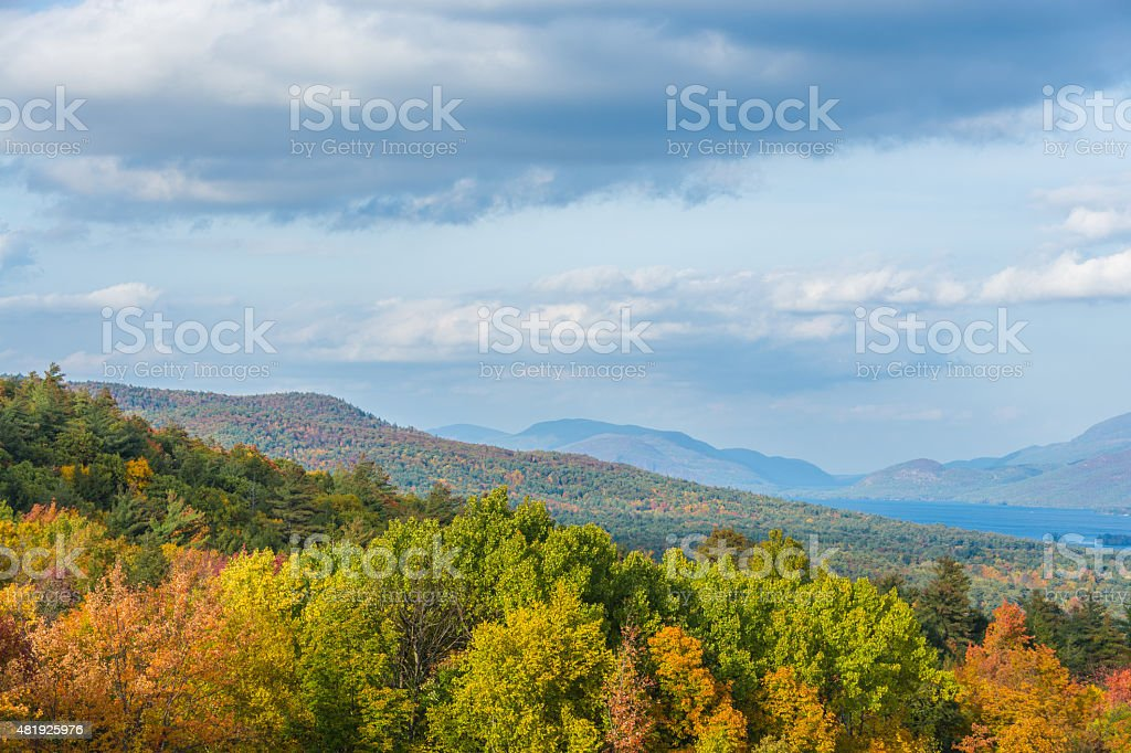 Colorful Adirondack Mountains stock photo