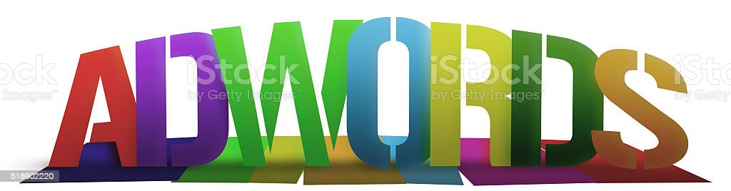 Colorful Adwords stock photo