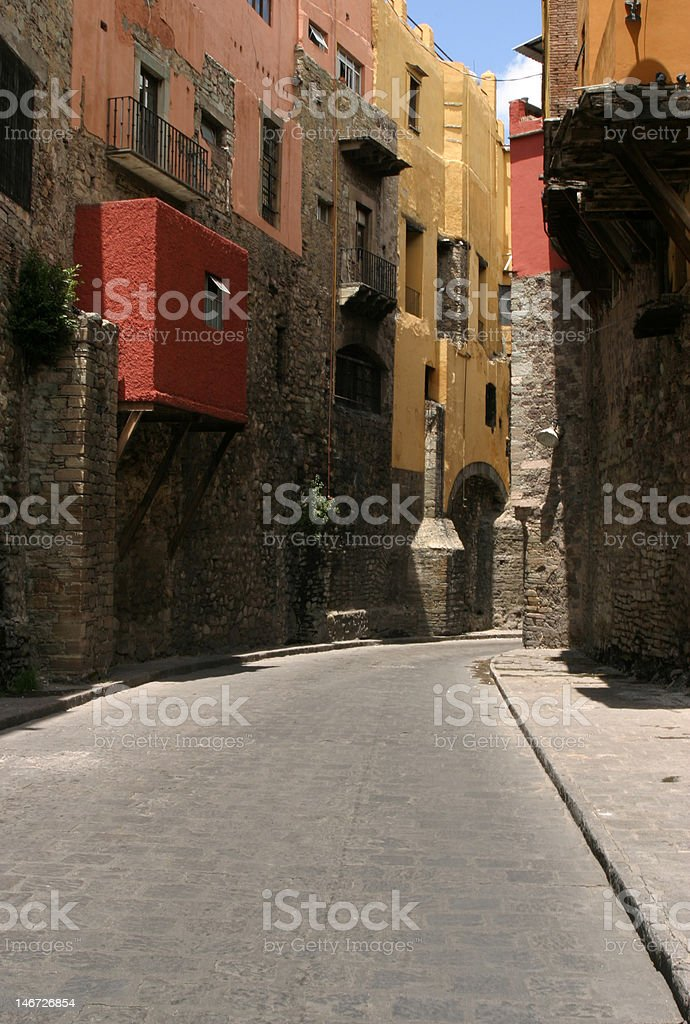 Colorful Alley in Mexico royalty-free stock photo