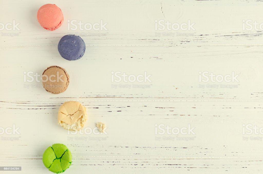 Colorful almond cookies macaroon zbiór zdjęć royalty-free