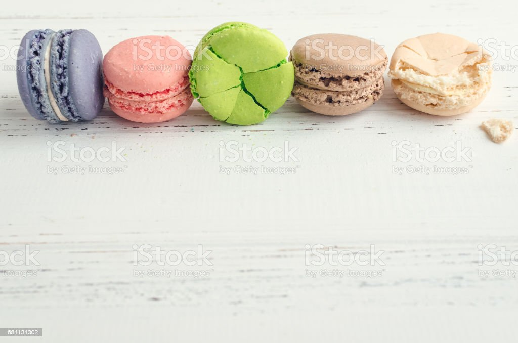 Colorful almond cookies macaroon foto stock royalty-free