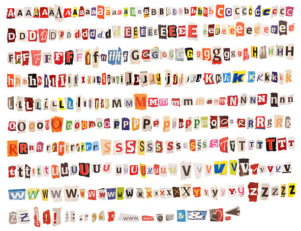 Colorful Alphabet – from Newspapers and Magazines stock photo