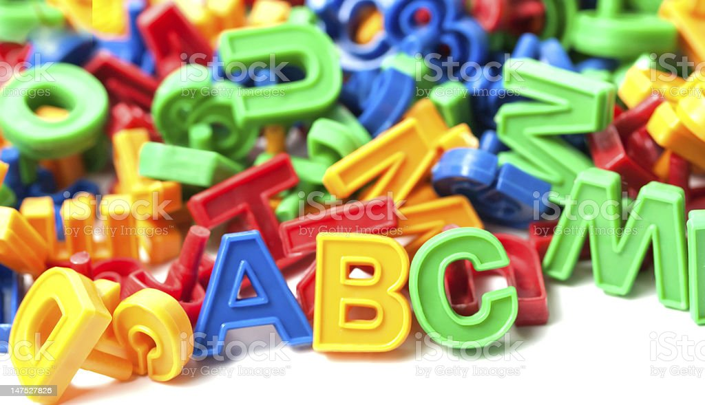 colorful alphabet royalty-free stock photo