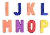 Colorful alphabet refrigerator magnets