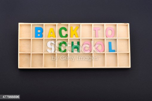 istock Colorful Alphabets on Black Background with