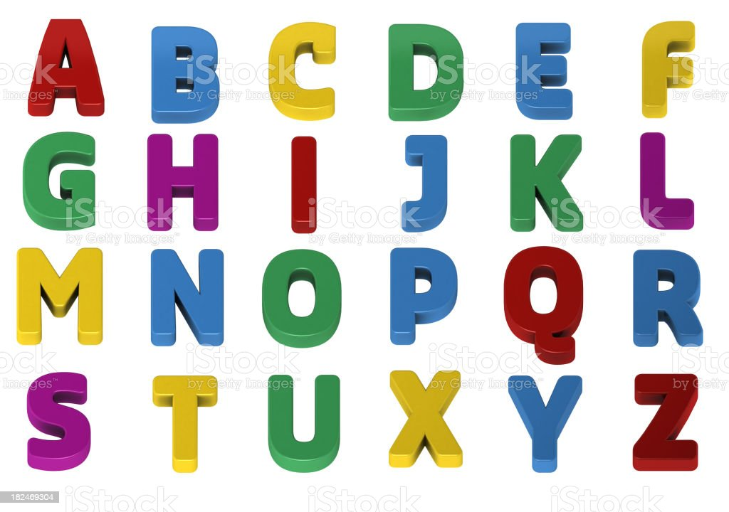 Colorful alphabets royalty-free stock photo
