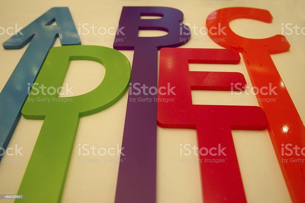 Colorful alphabets stock photo