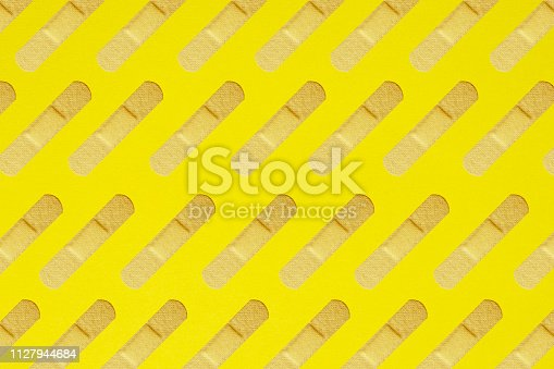 istock Colorful and abstract adhesive plaster pattern 1127944684