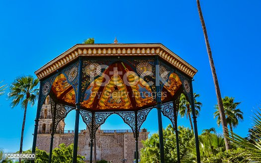 Colorful and Elaborately-Designed Bandstand - Alamos, Sonora, Mexico