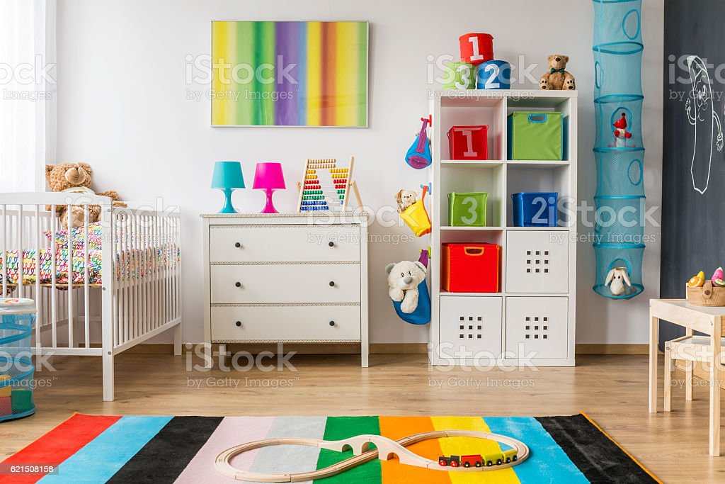 Colorful and pretty child room foto stock royalty-free