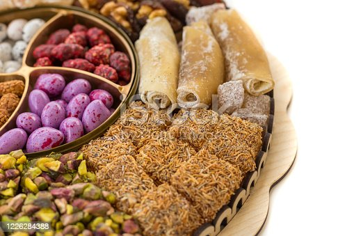 istock Colorful and various candies, Turkish delight fruit candies 1226284388