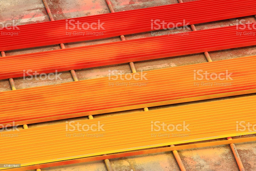 colorful angle steel royalty-free stock photo