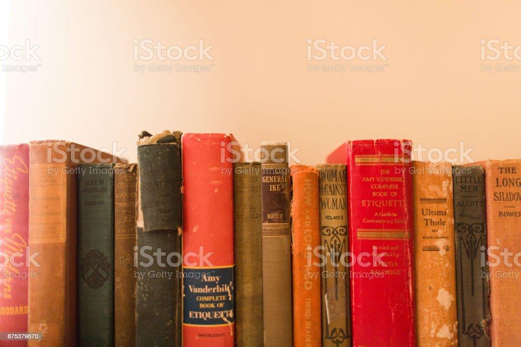 Colorful Antique Books stock photo