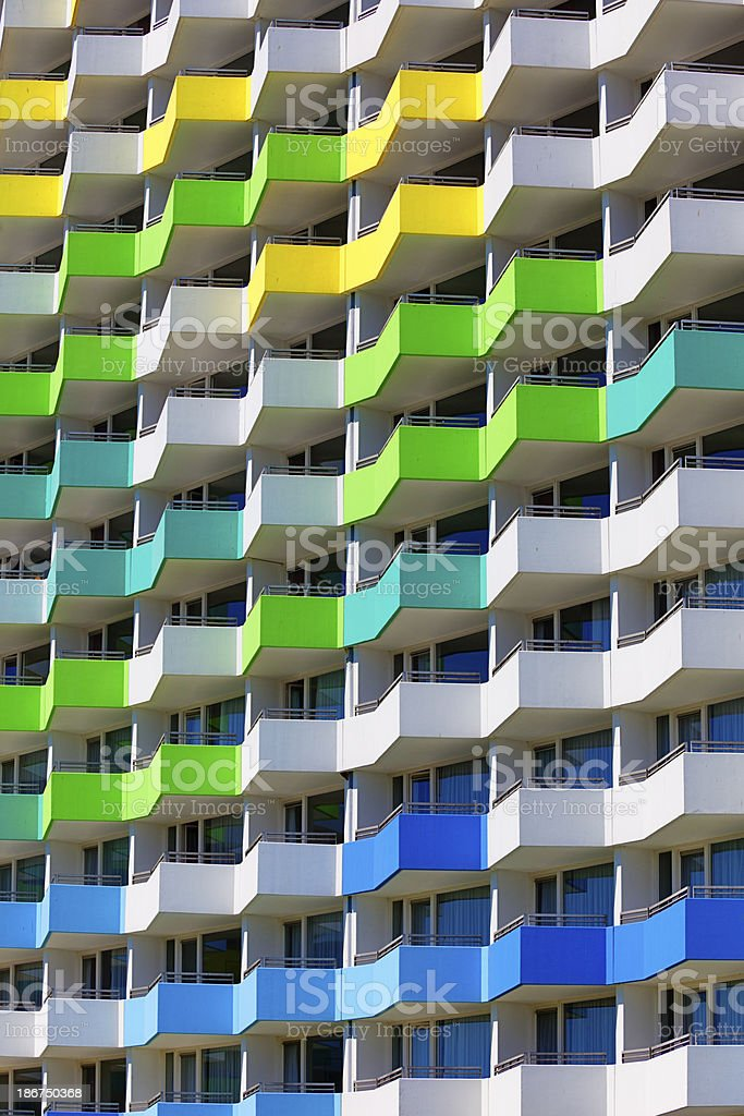 colorful apartment block royalty-free stock photo