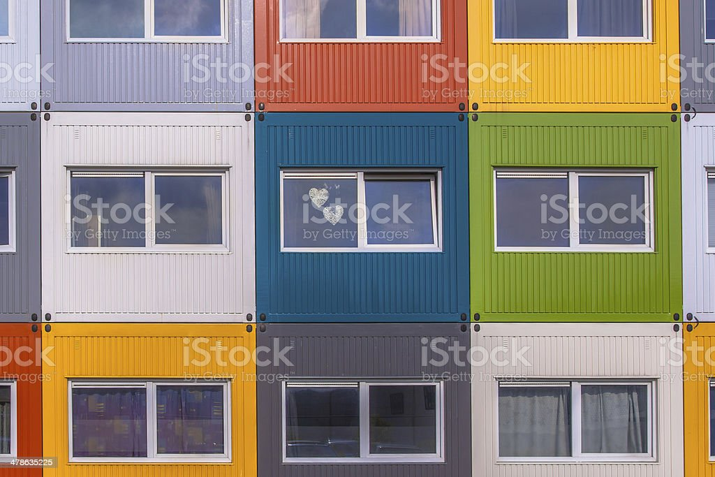 Colorful Apartment Building stock photo