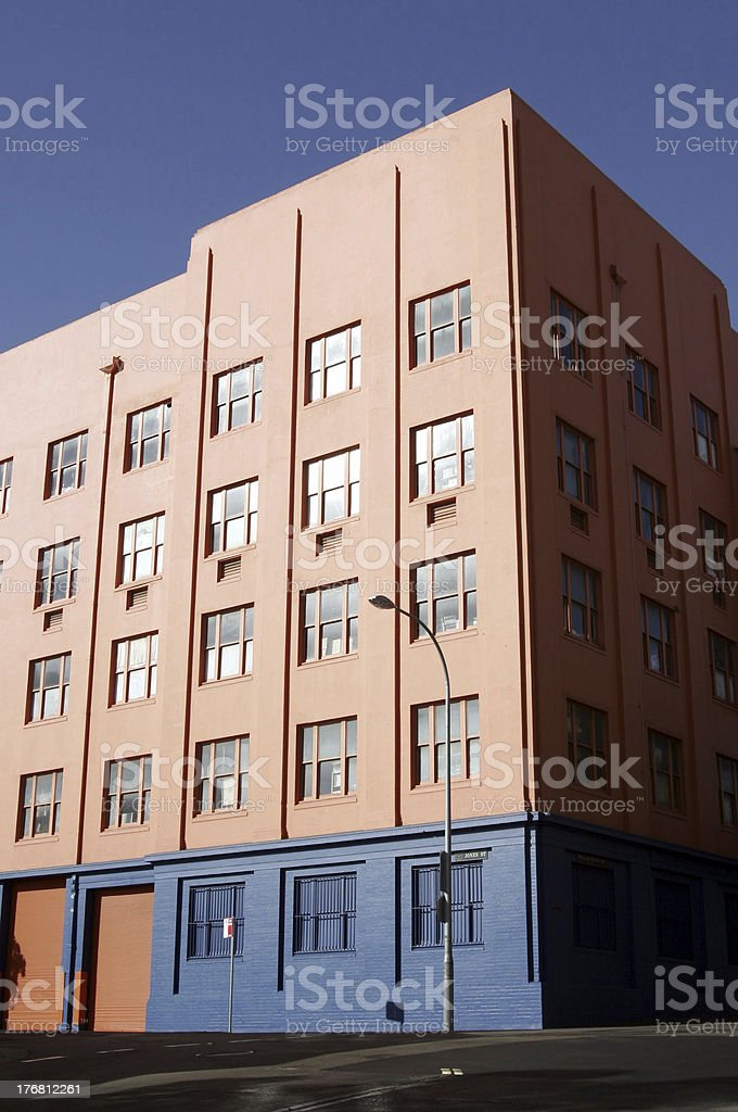Colorful Apartment Building, Sydney royalty-free stock photo