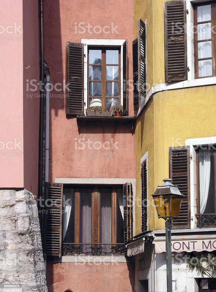 Colorful Apartments royalty-free stock photo
