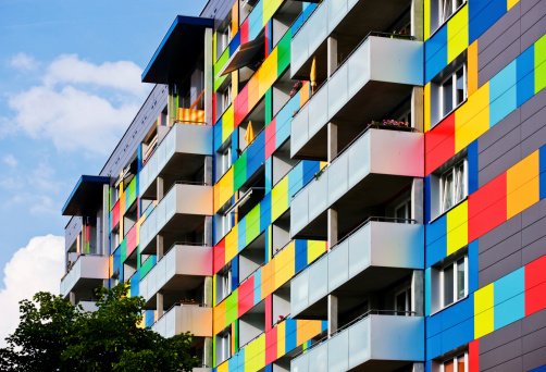 colorful appartment building