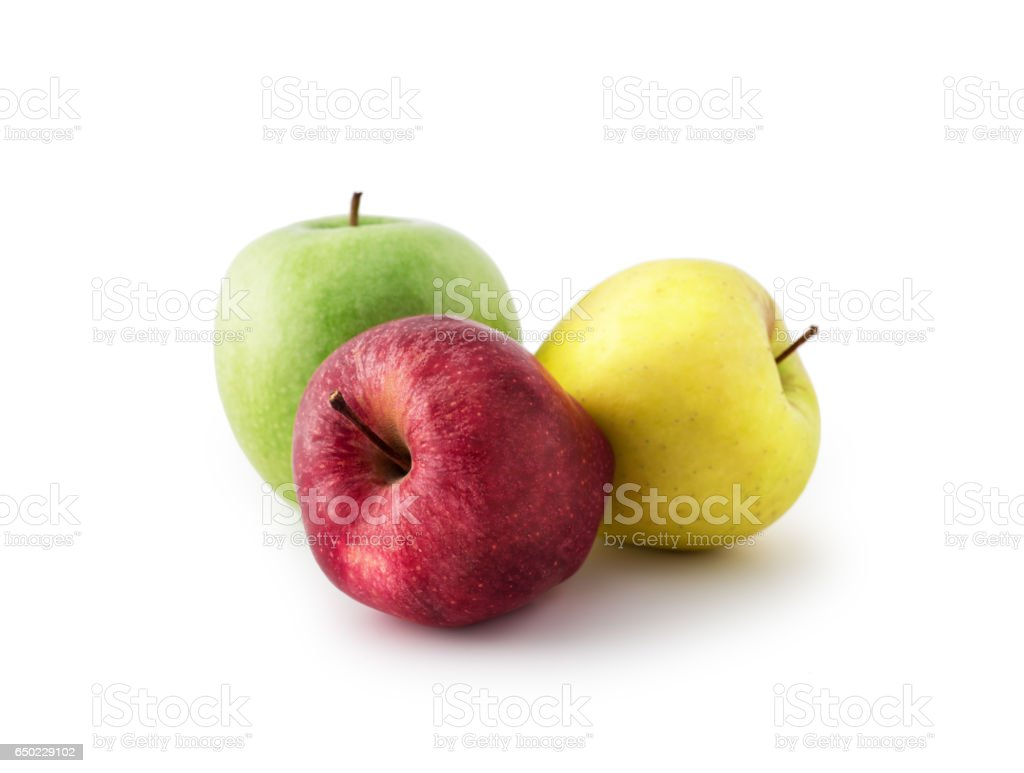 Colorful Apples , isolated stock photo