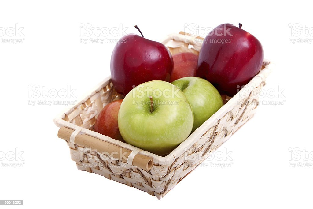 Colorful apples royalty-free stock photo
