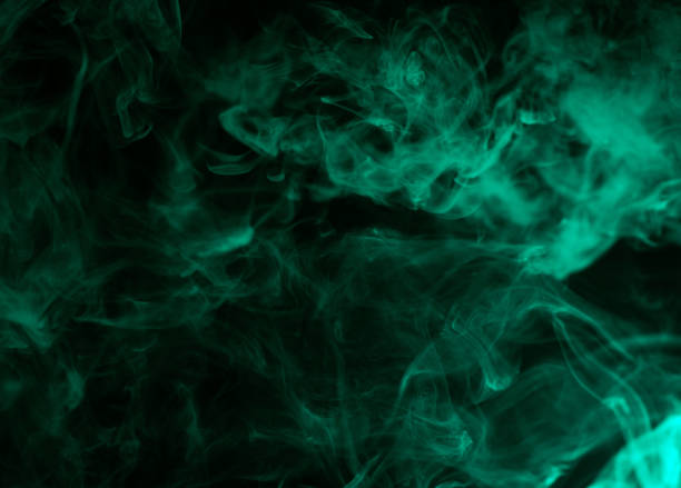 colorful aquamarine smoke colorful aquamarine smoke isolated on black background evaporation stock pictures, royalty-free photos & images