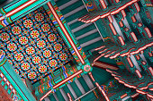 Colorful and traditional architecture of Changdeokgung palace in Seoul , South Korea.