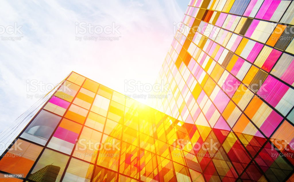 Colorful Architecture wall stock photo