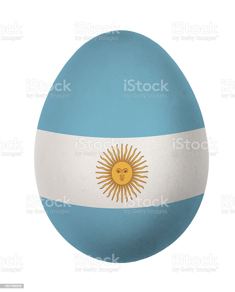 Colorful Argentina flag Easter egg isolated royalty-free stock photo