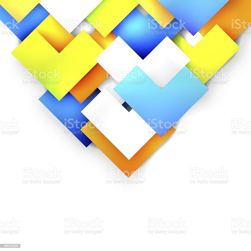 Colorful arrows on white background stock photo