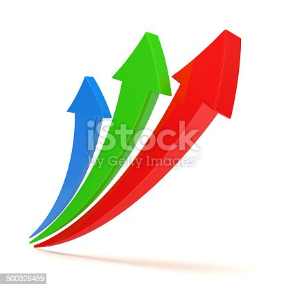 istock Colorful Arrows on white background 500326459