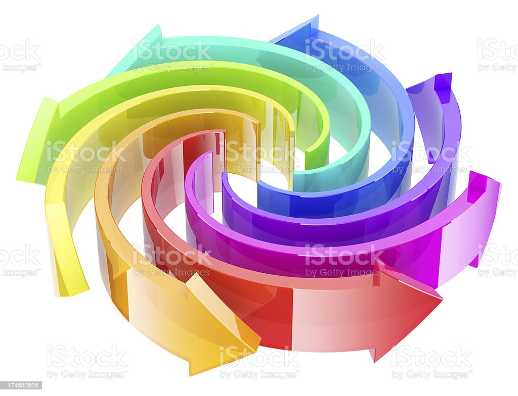 Colorful arrows. royalty-free stock photo