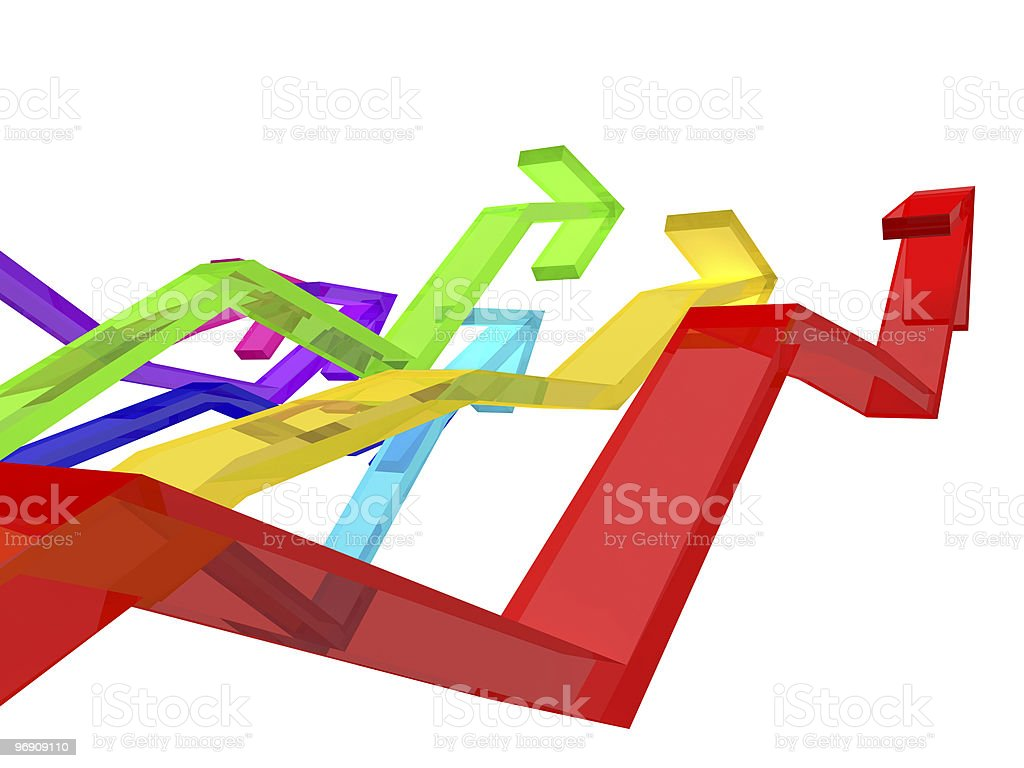 Colorful arrows stock photo