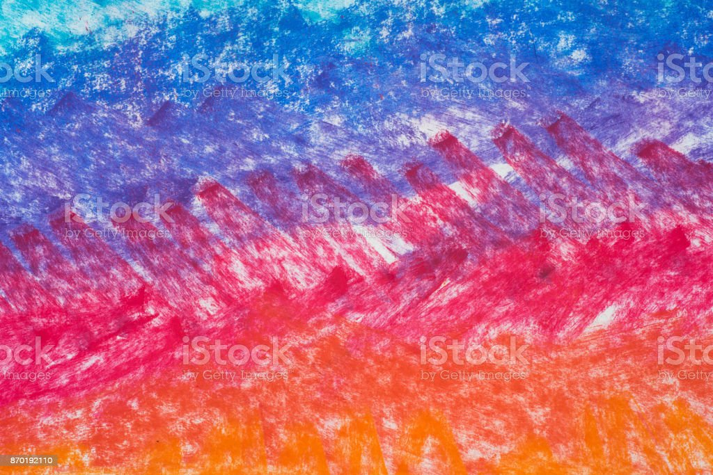 colorful art abstract pastel drawing background stock photo