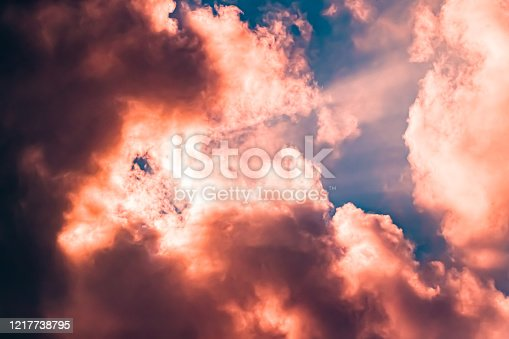 Colorful art clouds