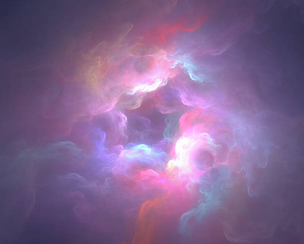 colorful art clouds - heaven stock photos and pictures