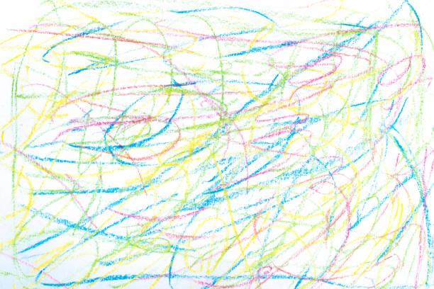 farbenfrohe kunst pastell hintergrundtextur - scribble stock-fotos und bilder