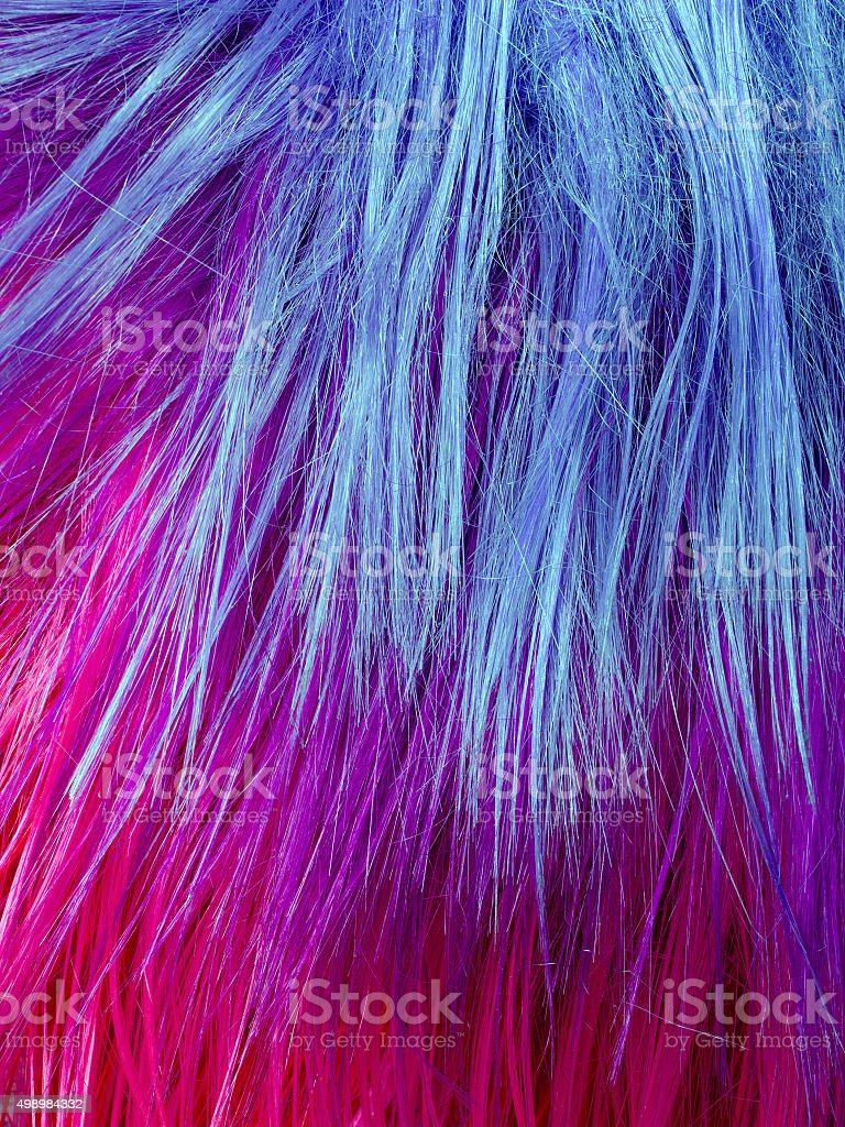 colorful artificial hair texture stock photo