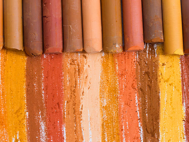 colorful artistic crayons stock photo