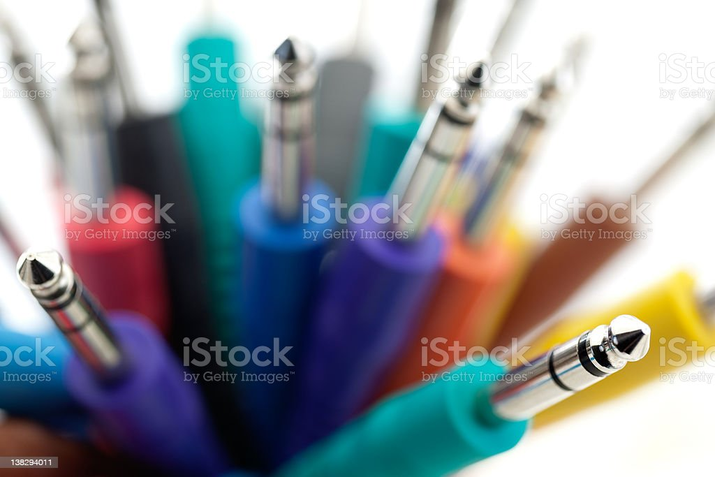 Colorful Audio Patch Cords stock photo