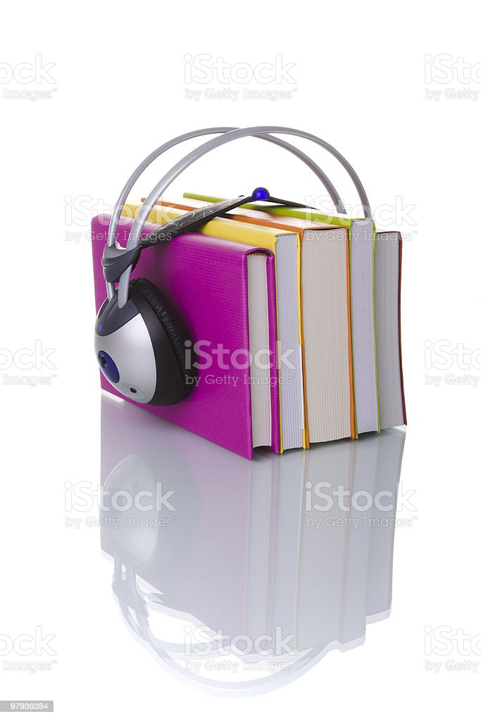 colorful audiobook concept royalty-free stock photo