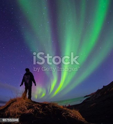 istock Colorful Aurora Borealis, Iceland 937550046