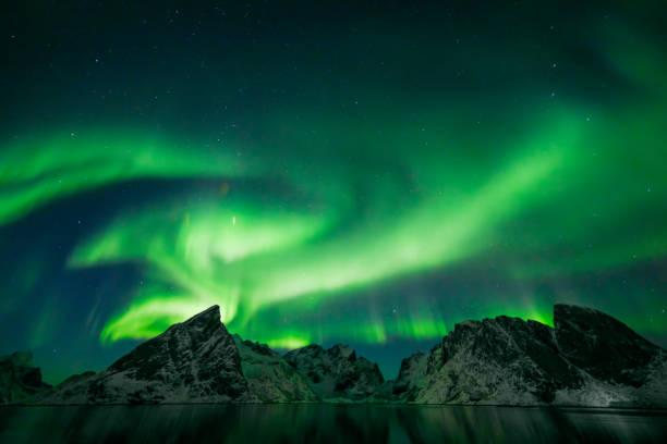 Bunte Aurora Borealis – Foto