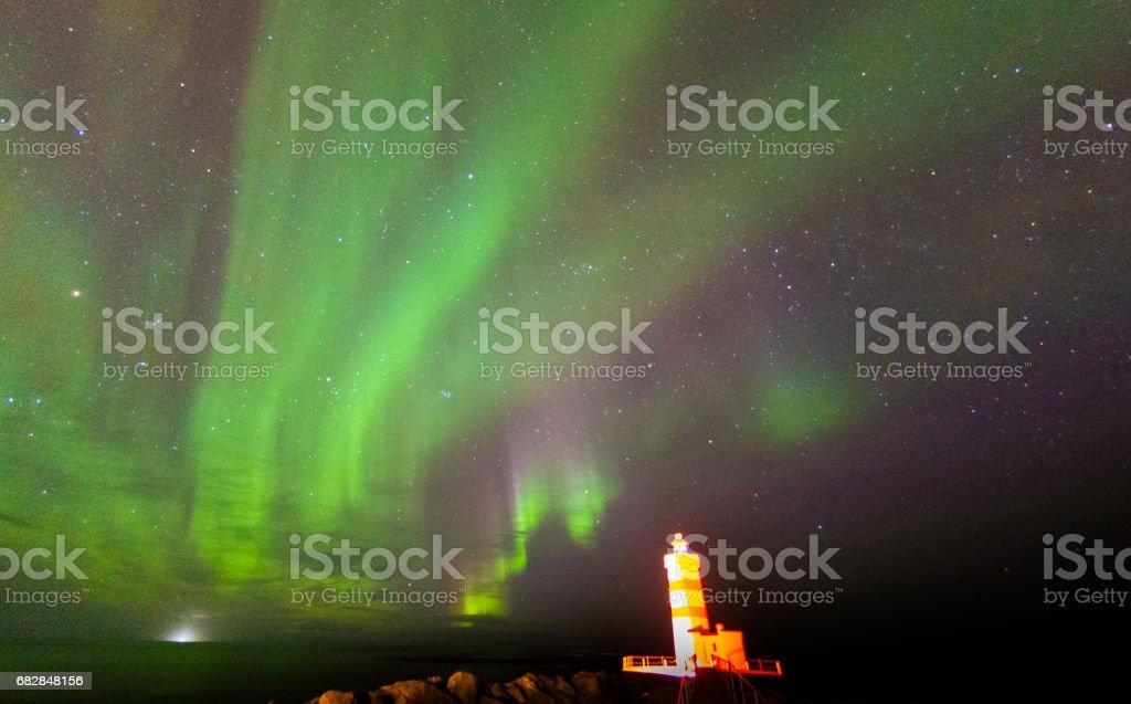 Bunte Aurora Borealis Lizenzfreies stock-foto