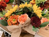 Colorful Autumn Flower Arrangement Bouquets for Thanksgiving in 2020